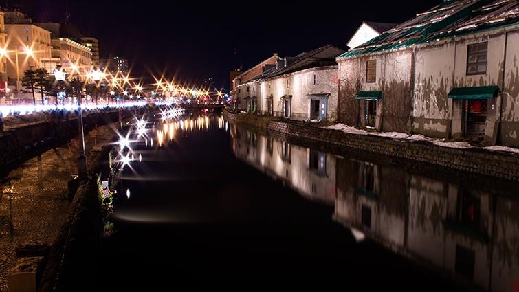 夜の小樽運河