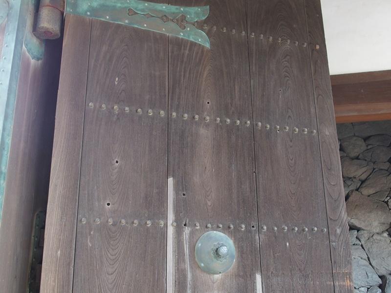 佐賀城鯱の門弾痕