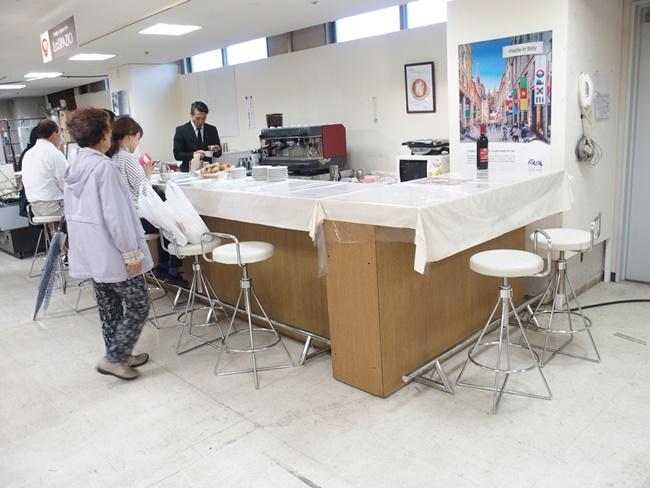 イタリア展カフェスペース