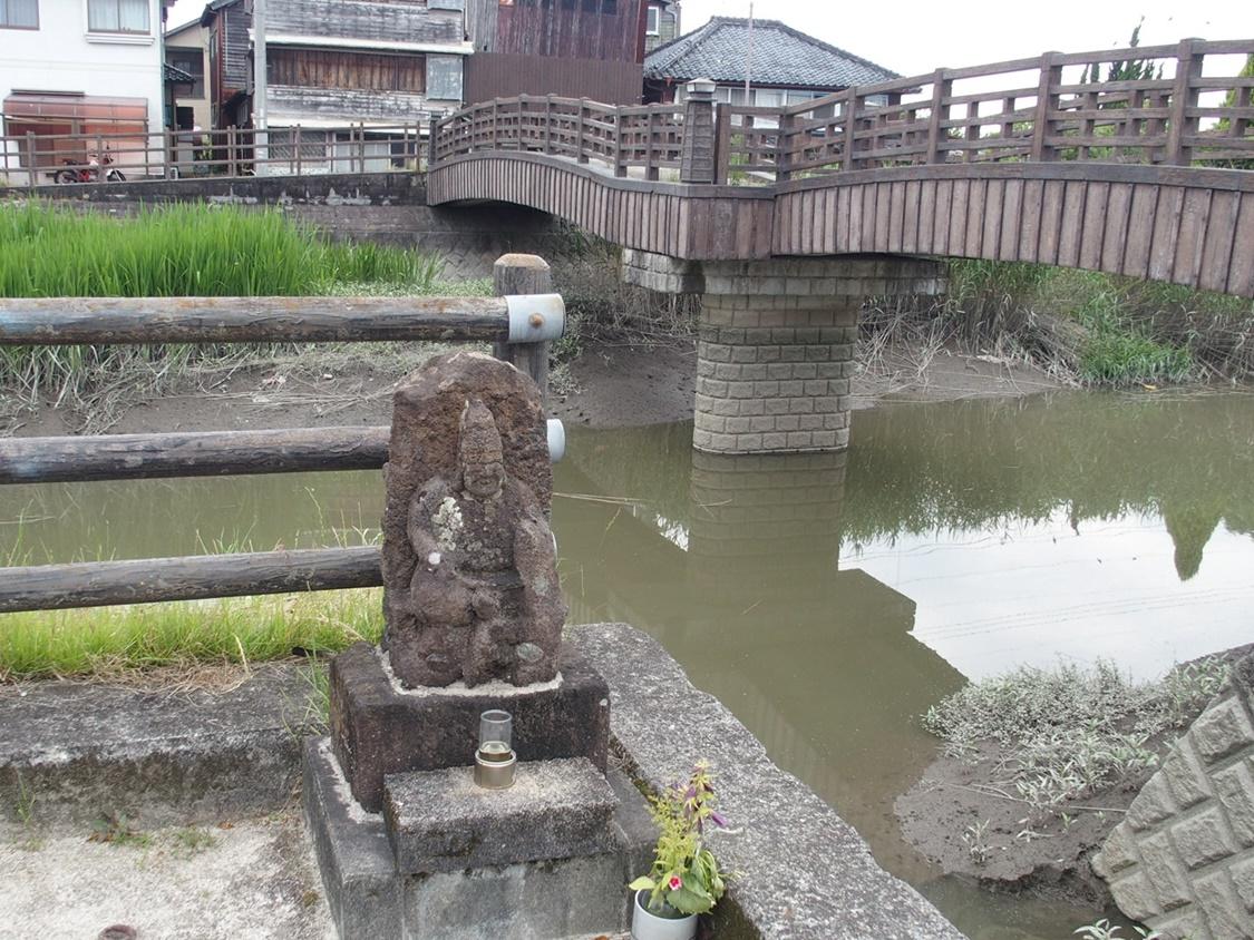 「旧長崎街道 高橋」江戸時代の佐賀城下町への西側入り口が残る場所