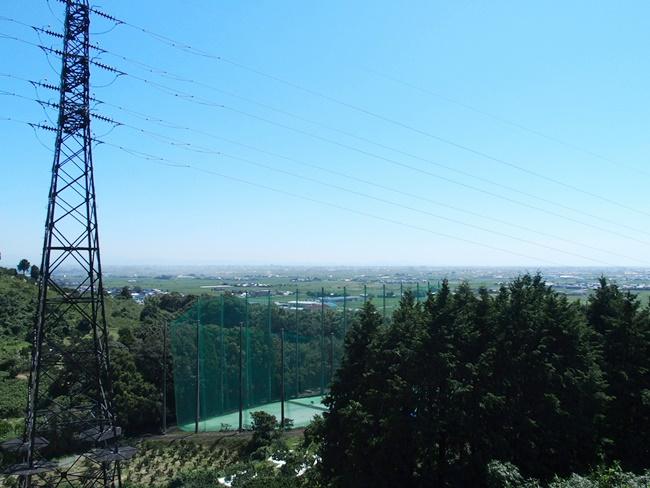 千葉城中腹からの眺め佐賀城