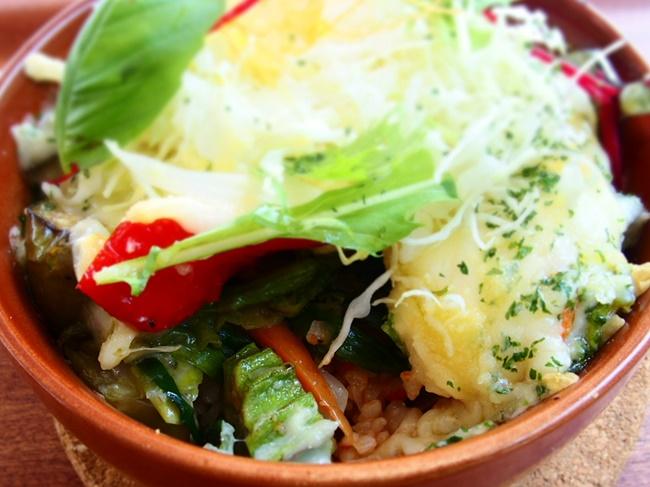 野菜チーズ焼きアップ