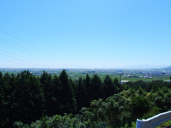 千葉城からの眺め杵島郡方面