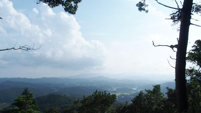 三瀬城跡眺望