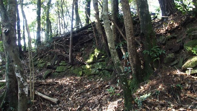 三瀬城跡石積み2
