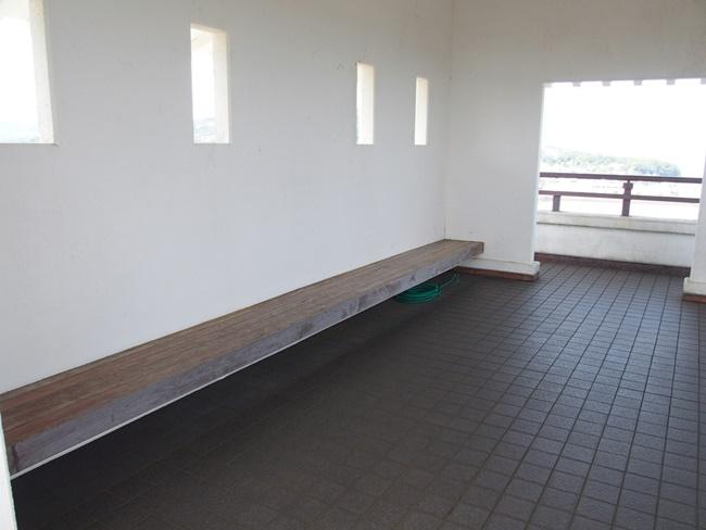 竹崎城跡展望台内部
