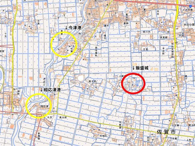 飯盛城跡地図