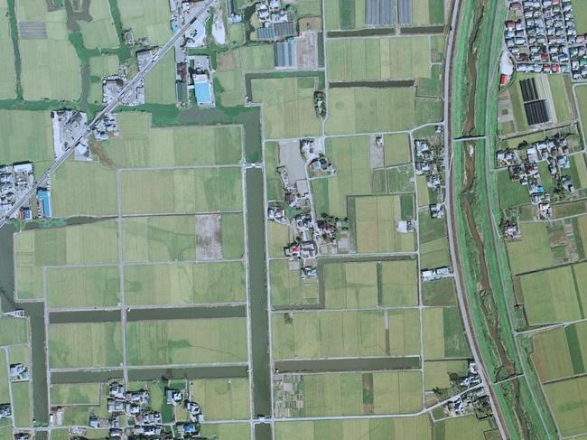 本告城農地整備後航空写真