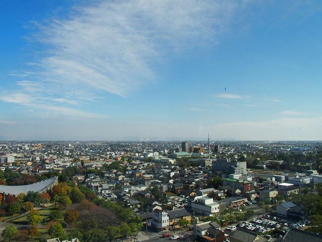 佐賀県庁展望ホール東方向