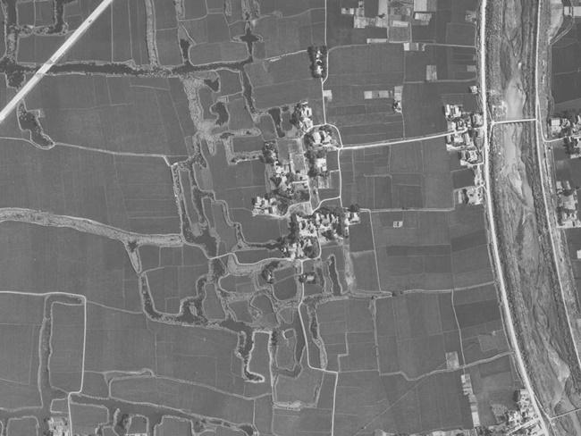 本告城1962年航空写真2