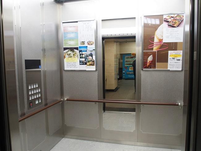 佐賀県庁展望ホールエレベータ