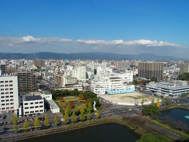 佐賀県庁展望ホール北方向