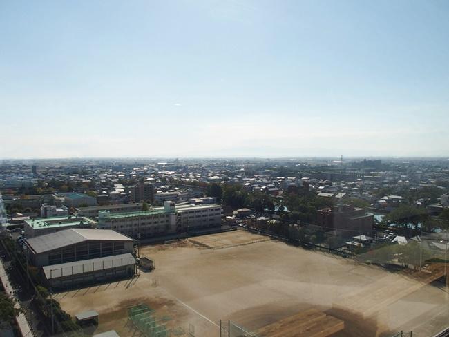 佐賀県庁展望ホール南方向