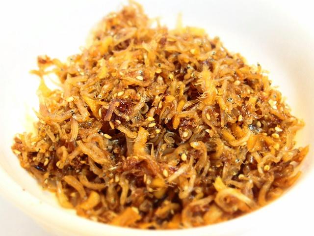 「ちりめんと生姜の佃煮」砂糖を使わずに「あめがた」を使って作りました。さがめしレシピ!