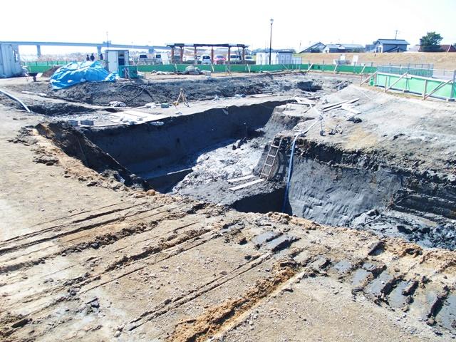 「三重津海軍所跡の発掘風景」佐賀の見えない世界遺産が見えるかも!?ですよ。