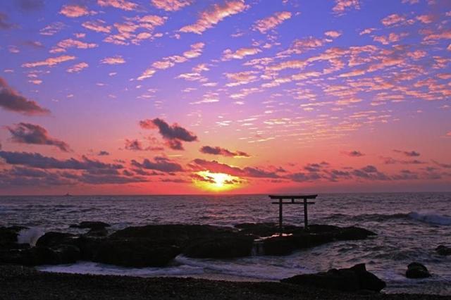 大洗海岸(朝焼け)